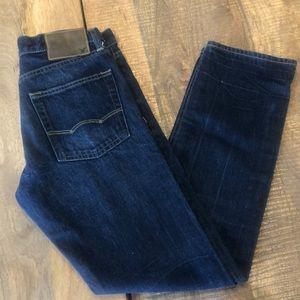 EUC American Eagle Slim Straight dark jeans 28x32